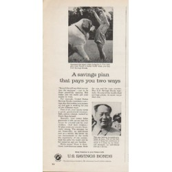 "1962 U.S. Savings Bonds Ad ""A savings plan"""