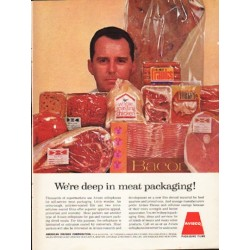 "1962 Avisco Ad ""We're deep in meat packaging!"""