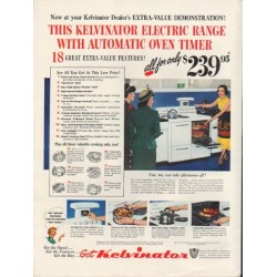 "1950 Kelvinator Ad ""Automatic Oven Timer"""