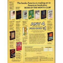 "1976 Book-Of-The-Month Club Ad ""The books America is reading"""