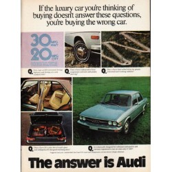 "1976 Audi Ad ""the luxury car"" ~ (model year 1976)"