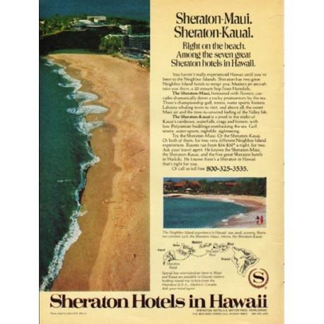 "1976 Sheraton Hotels Ad ""Sheraton-Maui"""
