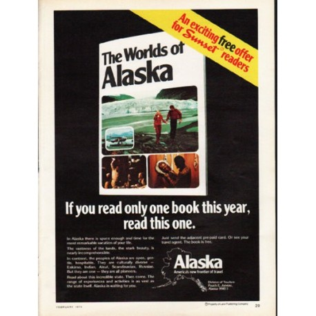 "1976 Alaska Travel Ad ""The Worlds of Alaska"""