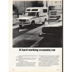 "1976 Toyota Ad ""A hard working economy car"" ~ (model year 1976)"