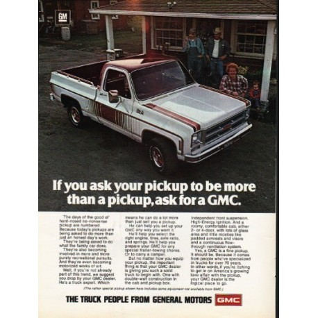 "1976 General Motors Ad ""If you ask your pickup"""
