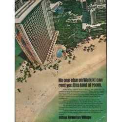 "1976 Hilton Ad ""No one else on Waikiki"""