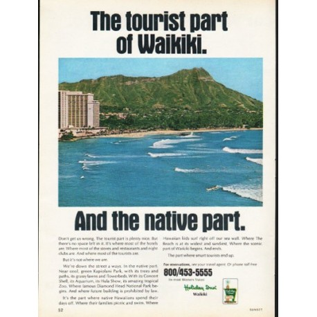 "1976 Holiday Inn Ad ""The tourist part of Waikiki"""