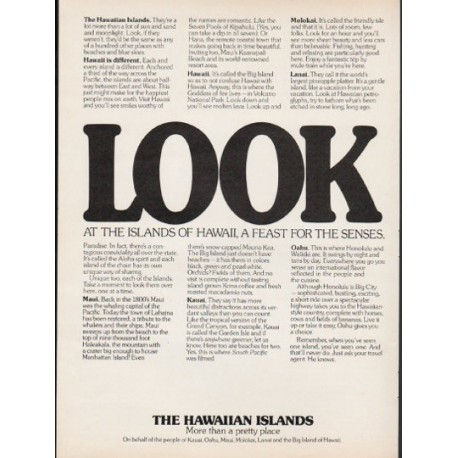 "1976 The Hawaiian Islands Ad ""Look"""