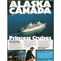 "1976 Princess Cruises Ad ""Alaska - Canada"""