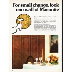 "1976 Masonite Ad ""For small change"""