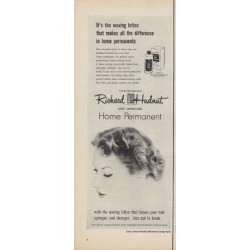 "1950 Richard Hudnut Ad ""It's the waving lotion"""