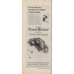 "1950 Richard Hudnut Ad ""It's the waving lotion"""