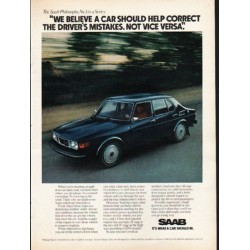 "1976 Saab Ad ""a car should help correct"" ~ (model year 1976)"