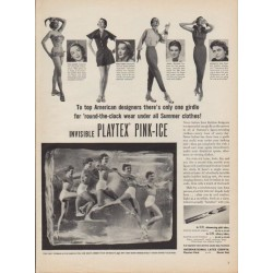 "1950 Playtex Ad ""Invisible Playtex Pink-Ice"""