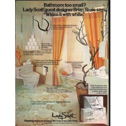 "1976 Lady Scott Ad ""Bathroom too small?"""