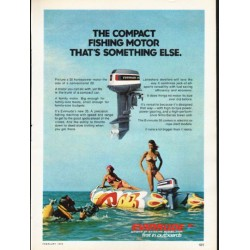 "1976 Evinrude Ad ""The compact fishing motor"""
