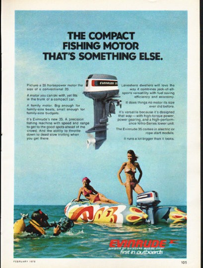 1976 Evinrude Vintage Ad Quot The Compact Fishing Motor Quot