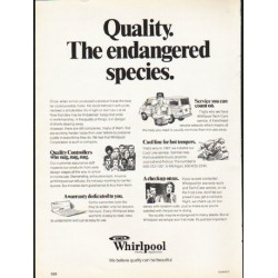 "1976 Whirlpool Appliances Ad ""Quality"""
