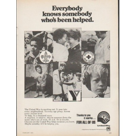 "1976 United Way Ad ""Everybody knows somebody"""