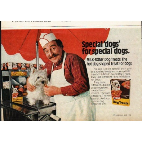 "1976 Milk-Bone Ad ""special dogs"""