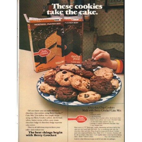 """1976 Betty Crocker Ad """"These cookies"""""""