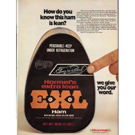 "1976 Hormel Ad ""How do you know"""