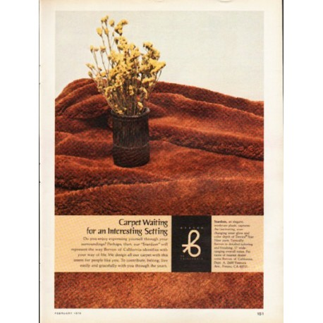 1976 Berven Carpet Vintage Ad Quot Carpet Waiting Quot