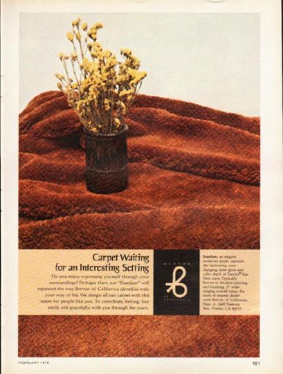1976 Berven Carpet Vintage Ad Quot Carpet Waiting Quot