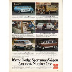 "1976 Dodge Ad ""Dodge Sportsman Wagon"" ~ (model year 1976)"