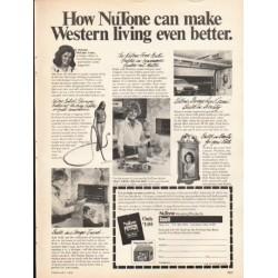 "1976 NuTone Ad ""Western living"""