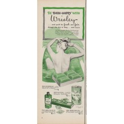 "1950 Wrisley Ad ""Be Bath-Happy with Wrisley"""