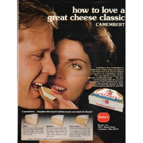 """1976 Borden Ad """"great cheese classic"""""""