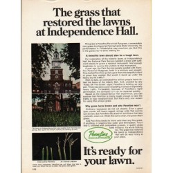 "1976 Pennfine Grass Ad ""Independence Hall"""