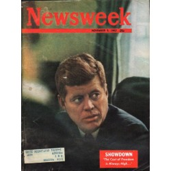 "1962 Newsweek Magazine Cover Page ""Showdown"" ~ November 5, 1962"