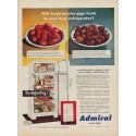 "1950 Admiral Refrigerator Ad ""Will fresh berries stay fresh"""