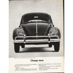 "1963 Volkswagen Ad ""Cheap new"" ~ (model year 1963)"