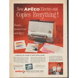 "1962 Apeco Ad ""Copies Everything"""