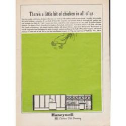 """1962 Honeywell Ad """"a little bit of chicken"""""""