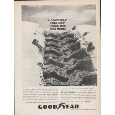 "1962 Goodyear Tires Ad ""Xtra-Grip"""