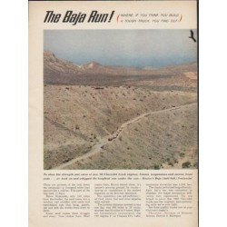 "1963 Chevrolet Trucks Ad ""The Baja Run"" ~ (model year 1963)"
