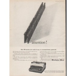 "1962 Remington Rand Ad ""attention"""