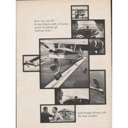 "1962 Cessna Ad ""Sure you can fly"""