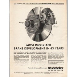 "1962 Studebaker Ad ""Most Important Brake Development"""