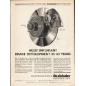 "1962 Studebaker Ad ""Most Important Brake Development"""