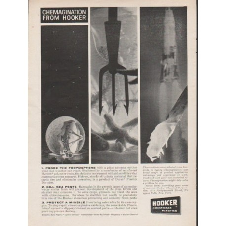 """1962 Hooker Chemicals Ad """"Chemagination from Hooker"""""""
