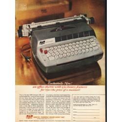 "1962 Smith-Corona Ad ""Exclusively New"""