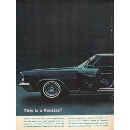 "1963 Pontiac Grand Prix Ad ""This is a Pontiac"" ~ (model year 1963)"