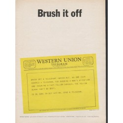 "1962 Western Union Ad ""Brush it off"""