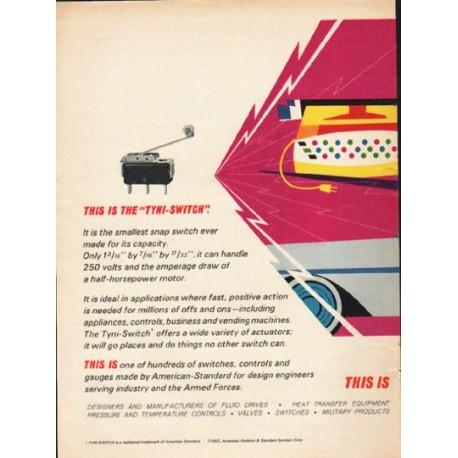 "1962 American-Standard Ad ""the ""Tyni-Switch"""""