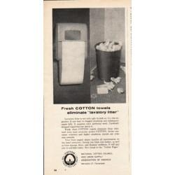 """1962 National Cotton Council Ad """"Fresh Cotton towels"""""""